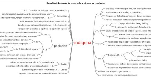 palabra indígena